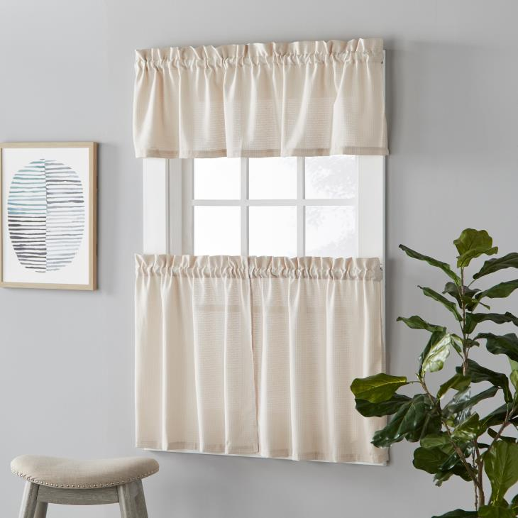 "Picture of Nelson 36"" Window Tier Pair in Linen"