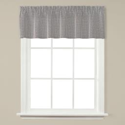 "Image of Nelson 13"" Window Valance in Silver"