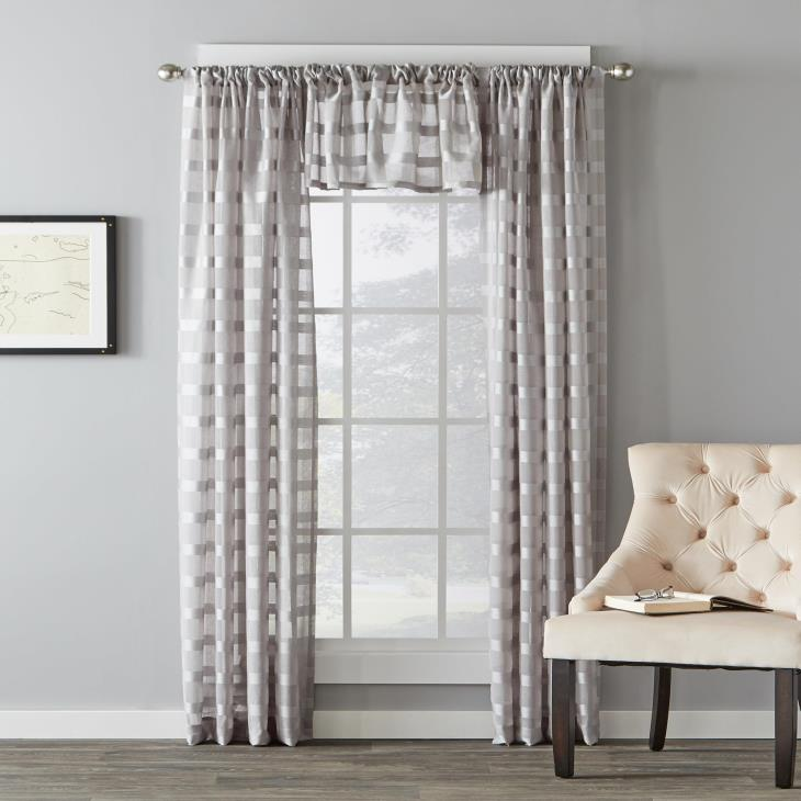 "Picture of Parkland 16"" Window Valance in Dove Gray"