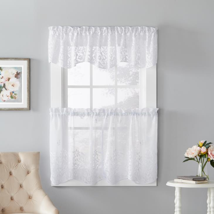 "Picture of Touch of Spring 13"" Window Valance in White"