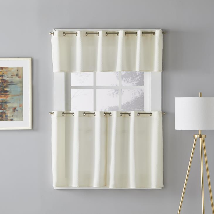 "Picture of Trio 13"" Window Valance in Ivory"