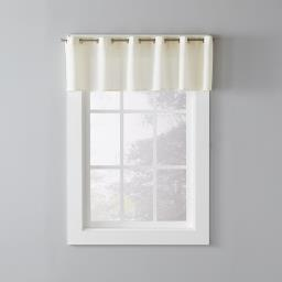 "Image of Trio 13"" Window Valance in Ivory"