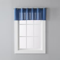 "Image of Trio 13"" Window Valance in Denim"