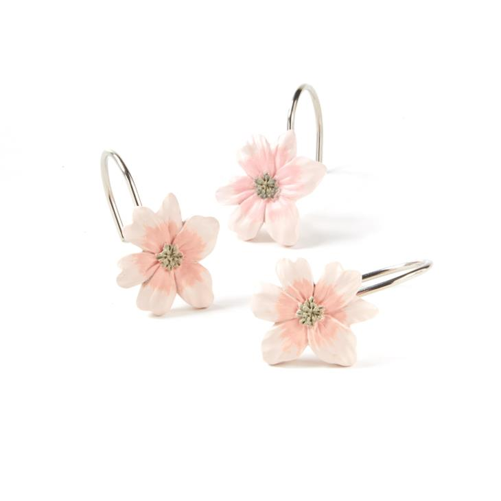 Picture of Misty Floral Shower Curtain Hooks