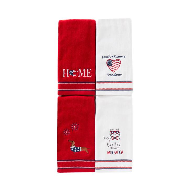 Picture of USA Dachshund 2-Piece Hand Towel Set