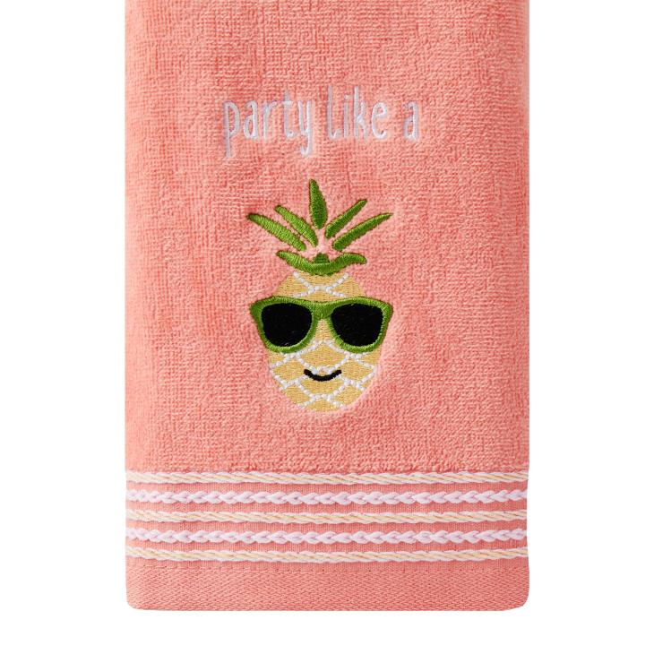 Picture of Party Pineapple 2-Piece Hand Towel Set