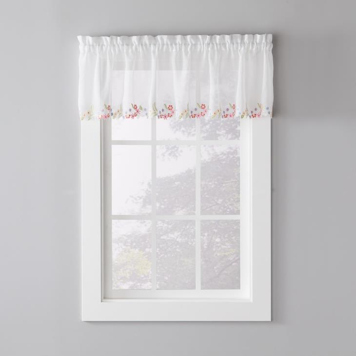 "Picture of Sweet Stems 14"" Window Valance in White"