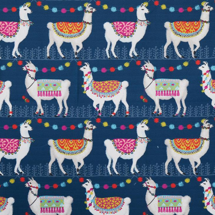 Picture of Alotta Llamas Fabric Shower Curtain