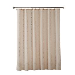 Image of Linen Space Dye Fabric Shower Curtain