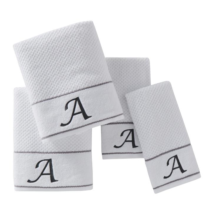 "Picture of Monogram ""A"" 4-Piece Bath & Hand Towel Set"