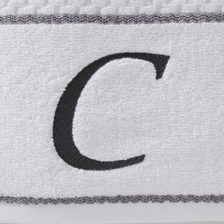 "Picture of Monogram ""C"" 4-Piece Bath & Hand Towel Set"