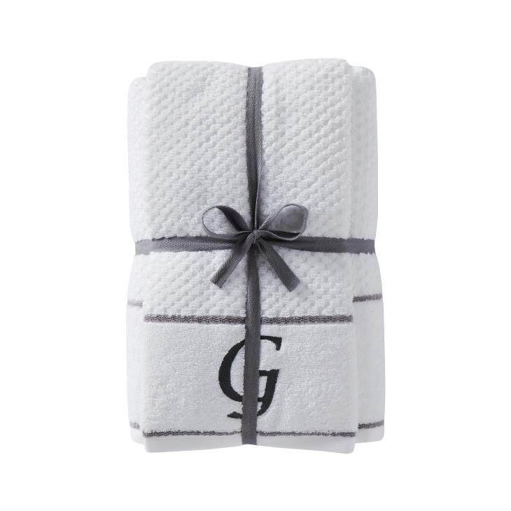 "Picture of Monogram ""G"" 4-Piece Bath & Hand Towel Set"