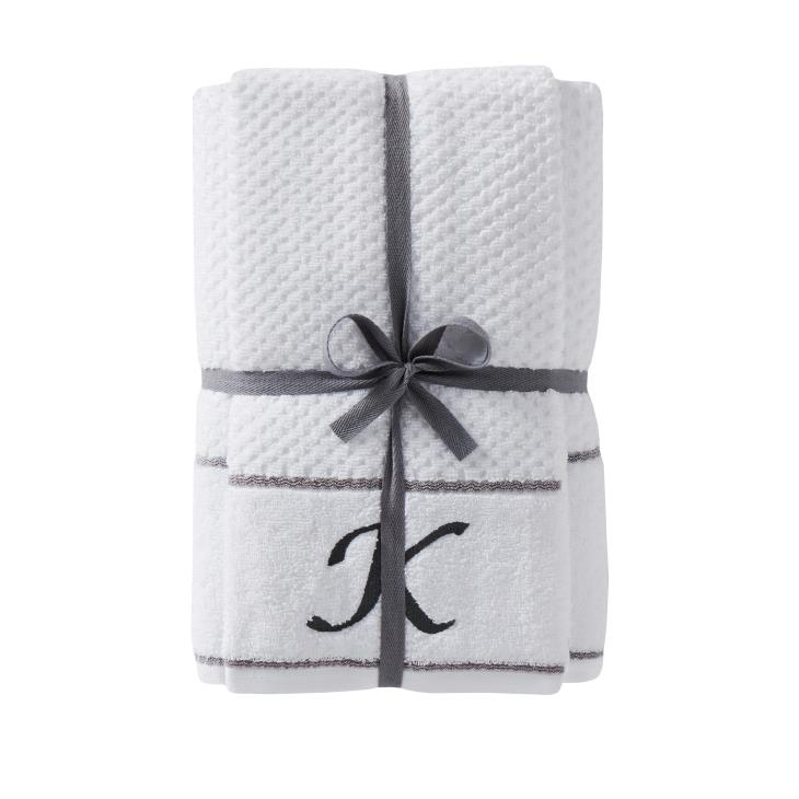 "Picture of Monogram ""K"" 4-Piece Bath & Hand Towel Set"