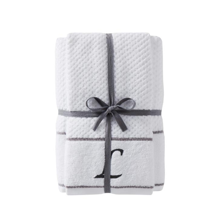 "Picture of Monogram ""L"" 4-Piece Bath & Hand Towel Set"