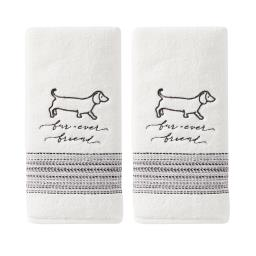 Image of Fur Ever Friends 2-Piece Hand Towel Set