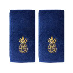 Image of Gilded Pineapple 2-Piece Hand Towel Set