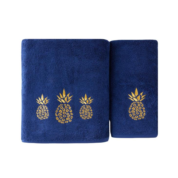 Picture of Gilded Pineapple Bath Towel