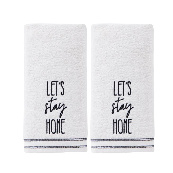 Picture of Lets Stay Home 2-Piece Hand Towel Set