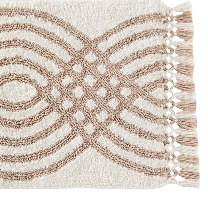 Picture of Fringed Waves Rug in Natural