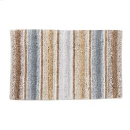 Image of Water Stripe Bath Rug in Natural