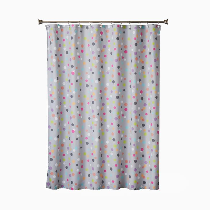 Picture of Confetti Fabric Shower Curtain