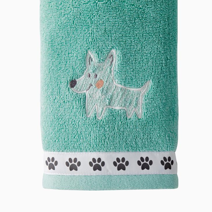 Picture of Scribble Pup 2-Piece Hand Towel Set