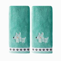 Image of Scribble Pup 2-Piece Hand Towel Set