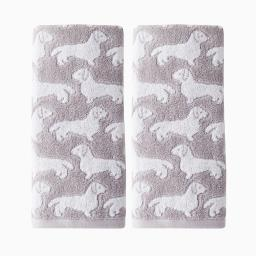 Image of Dog 2-Piece Hand Towel Set
