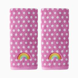 Image of Rainbow Cloud 2-Piece Hand Towel Set