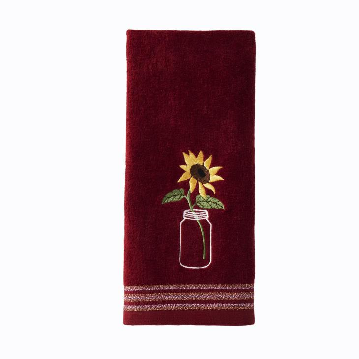 Picture of Sunflower in Jar 2-Piece Hand Towel Set