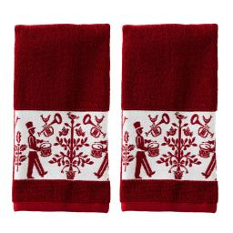Image of Christmas Carol 2-Piece Hand Towel Set