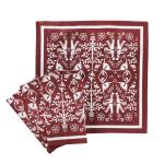 Image of Christmas Carol 4 Pc Napkin Set