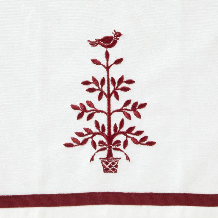 Picture of Christmas Carol Embroidered Dish Towel