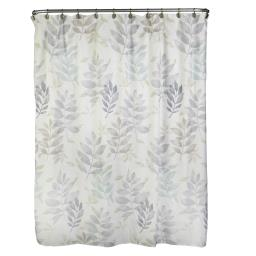 Image of Pencil Leaves Fabric Shower Curtain