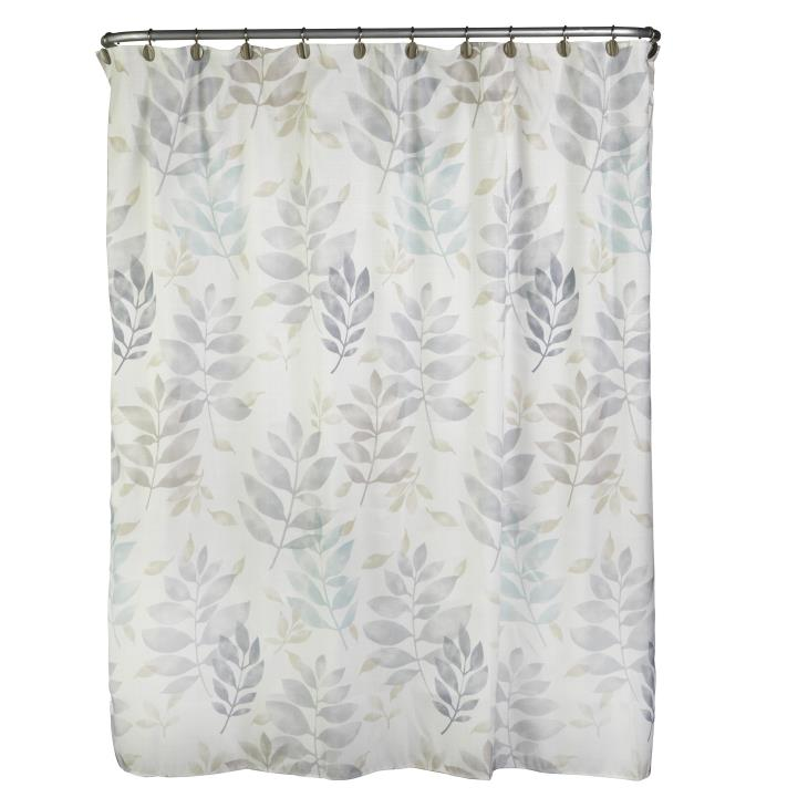 Picture of Pencil Leaves Fabric Shower Curtain
