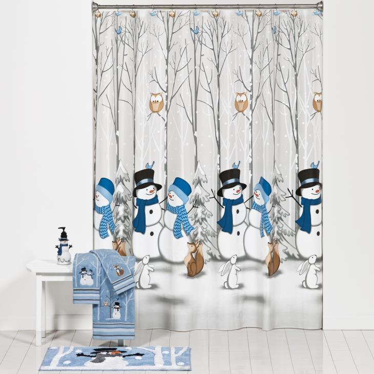 Picture of Winter Friends Shower Curtain