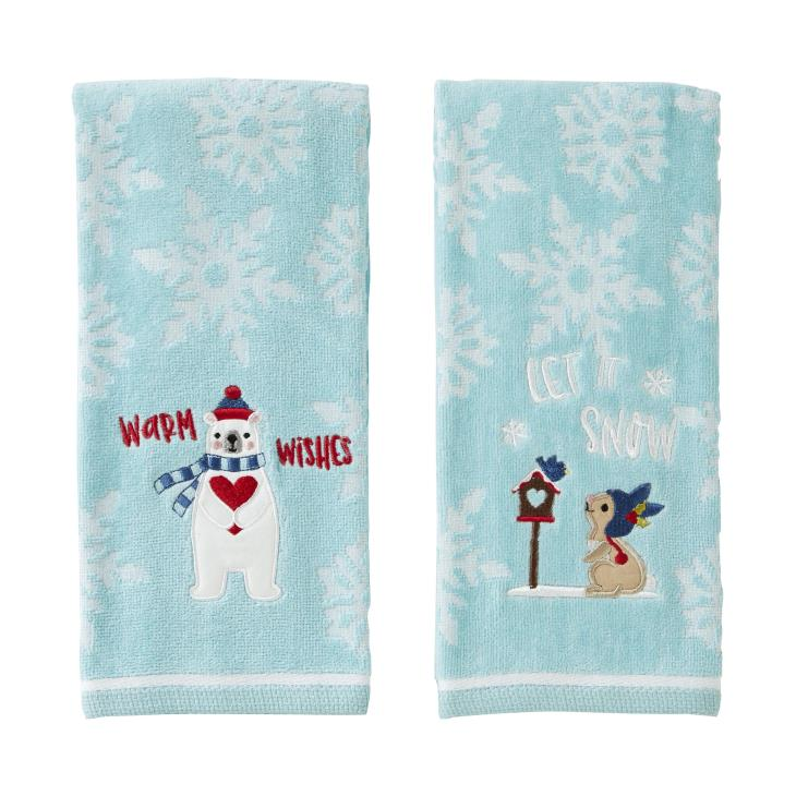 Picture of Bunny/Bear 2-Piece Hand Towel Set