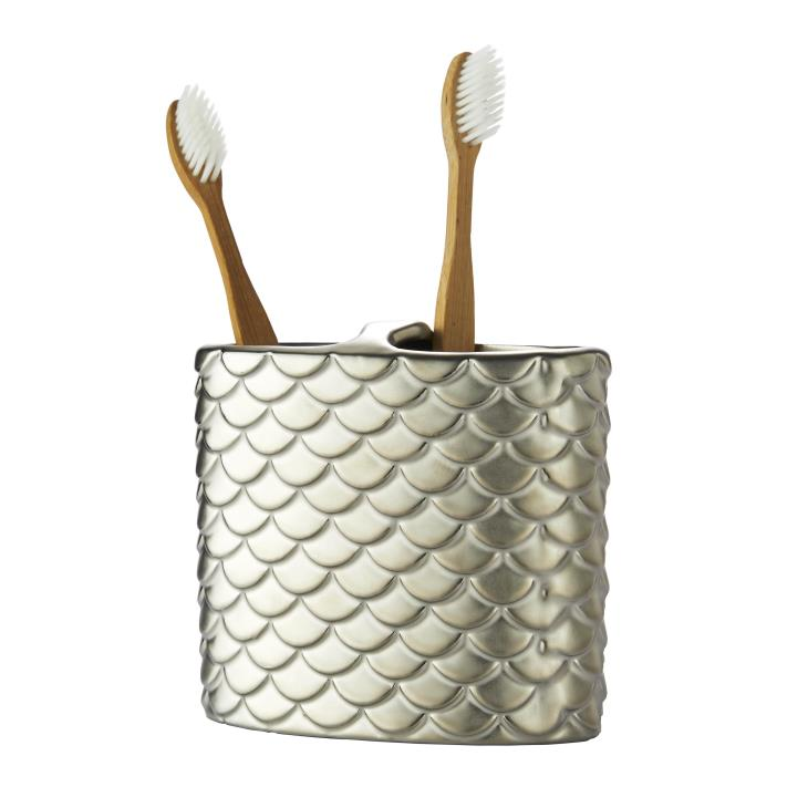 Picture of Silver Koi Toothbrush Holder