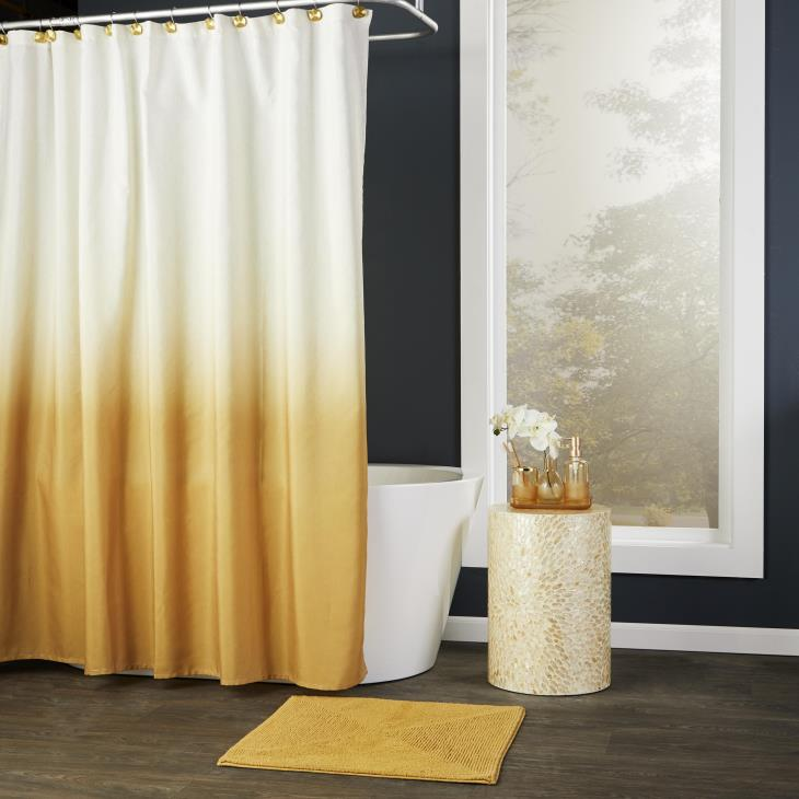 Picture of Ombre Shower Curtain in Gold