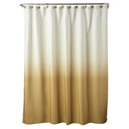 Image of Ombre Shower Curtain in Gold