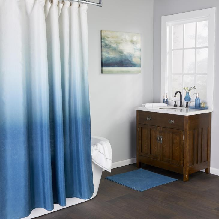Picture of Ombre Shower Curtain in Teal
