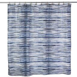 Image of Shibori Stripe Shower Curtain