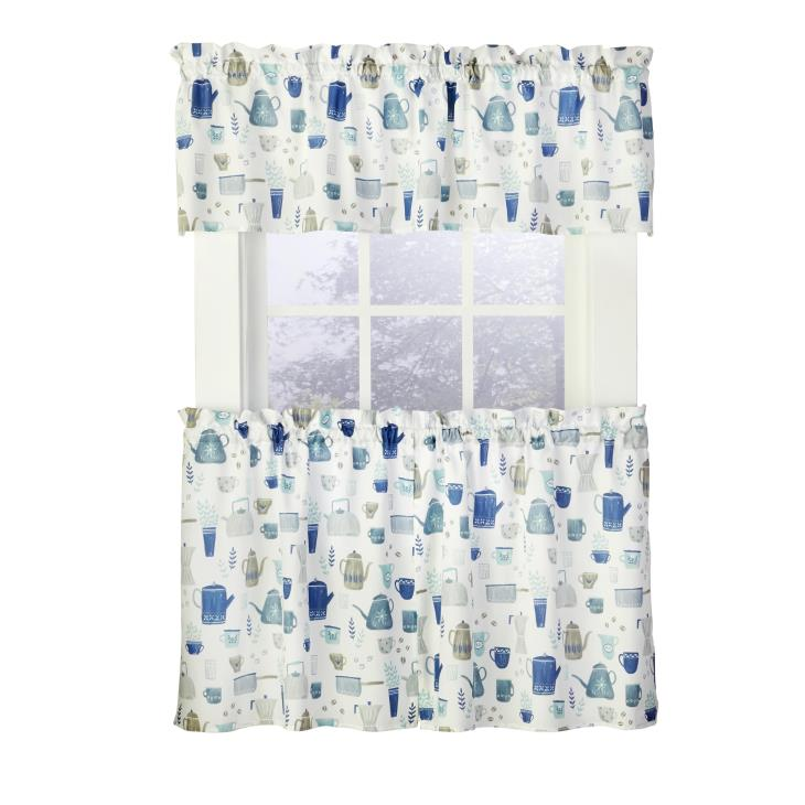 "Picture of Coffee Blues 13"" Valance in Blue"