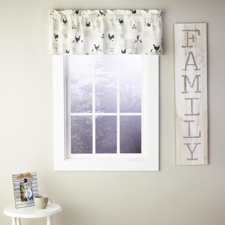 "Picture of Down on the Farm 13"" Valance in Natural"