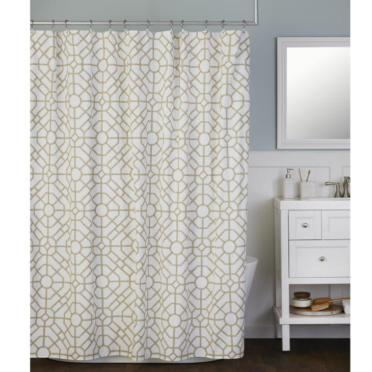 Picture of Bamboo Lattice Fabric Shower Curtain