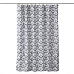 Image of Boho Floral Fabric Shower Curtain