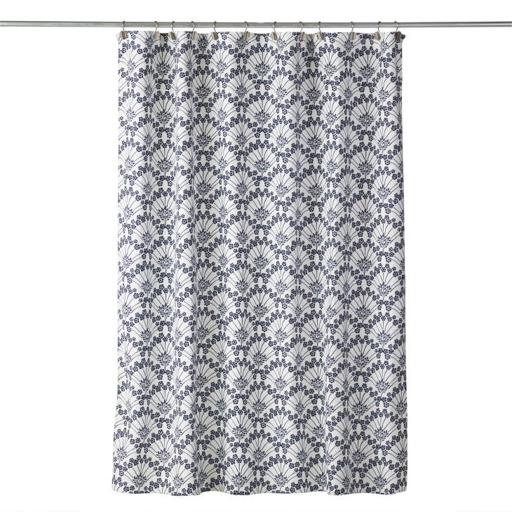 Picture of Boho Floral Fabric Shower Curtain