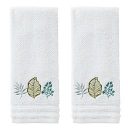 Image of Sprouted Palm 2-Piece Hand Towel Set