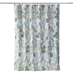 Image of Sprouted Palm Fabric Shower Curtain