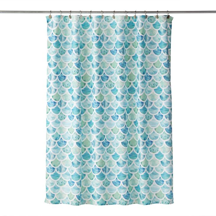 Picture of Ocean Watercolor Fabric Shower Curtain